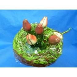 Bouquet de roses en chocolat