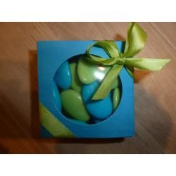 Boite en carton turquoise