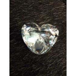 Coeur en verre sur base miroir