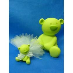 Petit ourson vert anis