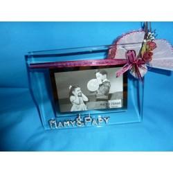 Cadre-photo en verre Mamy et Papy