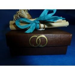 boite en carton couleur chocolat