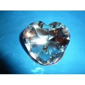 Coeur diamant sur miroir gravé
