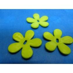 fleur en plastique anis