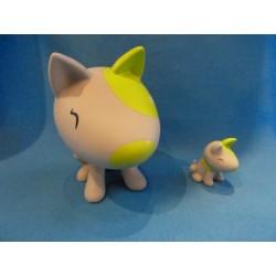 chien lumineux gris/lemon