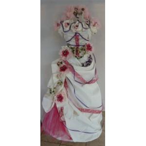 Bonbonnière sur robe mariée
