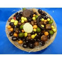 Panier coeur garni chocolats
