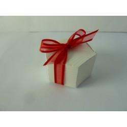 présentation de table mini exagone blanc
