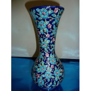 Vase en émaux de Longwy bleu ancien