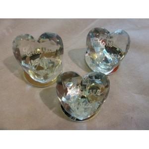 Coeur base miroir gravé