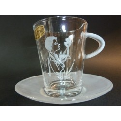 Tasse à café en verre pour communiant