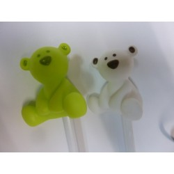 crayon avec ours vert anis