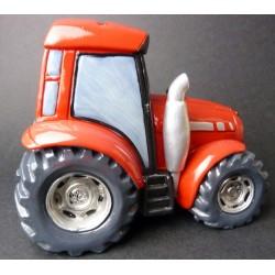 Tirelire tracteur rouge