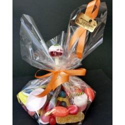 pochon de bonbons avec sucette