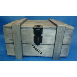 coffre en bois 250 g GRIS