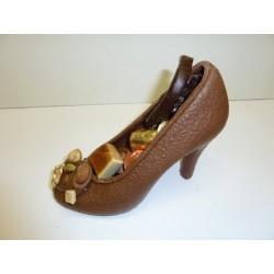Chaussure à talon en chocolat