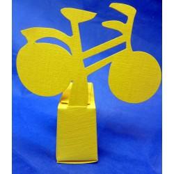 Valise citron et vélo