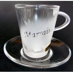 Tasse à café en verre marraine