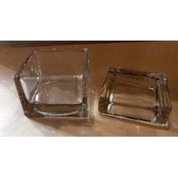 Boite en verre cube