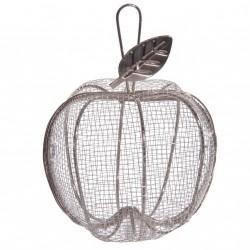 Pomme en métal argenté