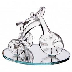 Tricycle sur miroir gravé