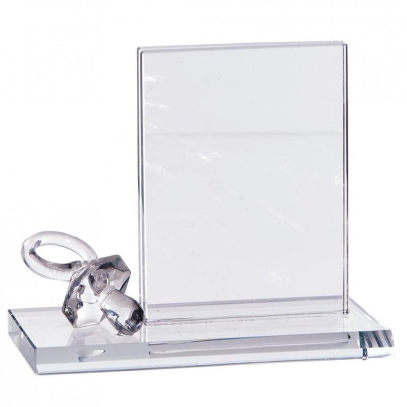 Tétine en cristal et cadre