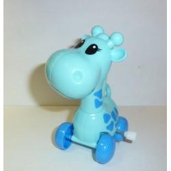 Girafe sur roulette bleue