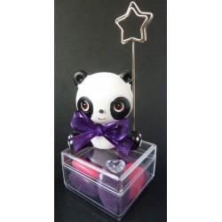 Panda porte-photo sur une boite transparente