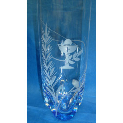 Verre à eau fond bleu calice