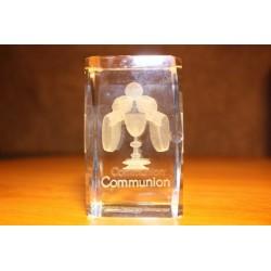 Bloc communion en verre taillé main