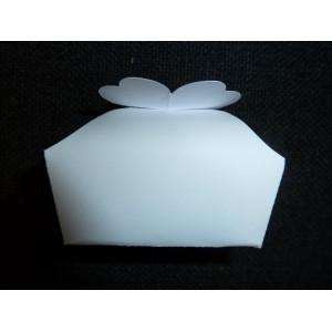 mini panier en carton blanc
