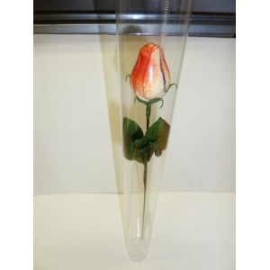 Rose en chocolat Saint-Valentin