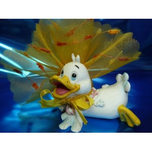 Bonbonniere canard blanc