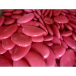 Dragée chocolat couleur rose fuschia